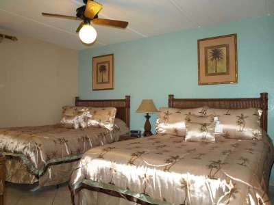 Second Bedroom with 2 Queen beds, attched bath, LCD TV, DVD